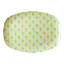 Melamin Tablett Platte 'Ice Cream' oval von rice