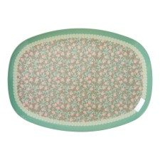 Melamin Tablett Platte 'Mini Floral' oval von rice