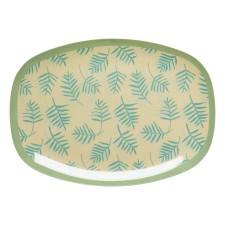 Melamin Tablett Platte 'Palm Leave' oval von rice