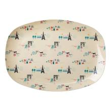 Melamin Tablett Platte 'Paris' oval von rice