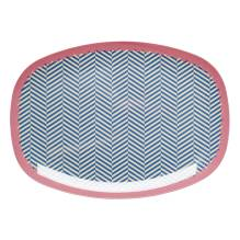 Melamin Tablett Platte 'Sailor Stripe' oval von rice