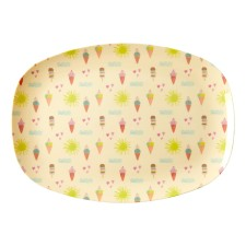 Melamin Tablett Platte 'Summer' oval von rice