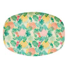 Melamin Tablett Platte 'Tropical' oval von rice