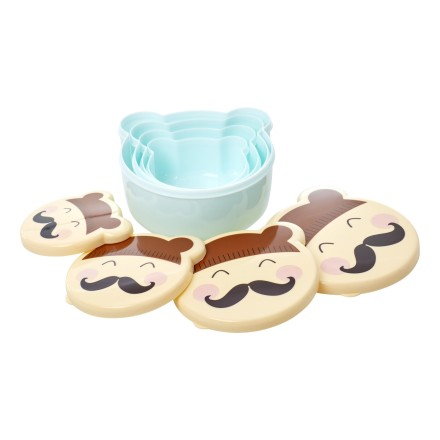 Snackbox Brotdose 'Faces' 4er Set