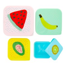 Snackdosen 'Fruit' 4er-Set von rice