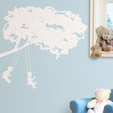 Schaukelnde Kinder 'Kids on Swings' Wandsticker von RoomMates