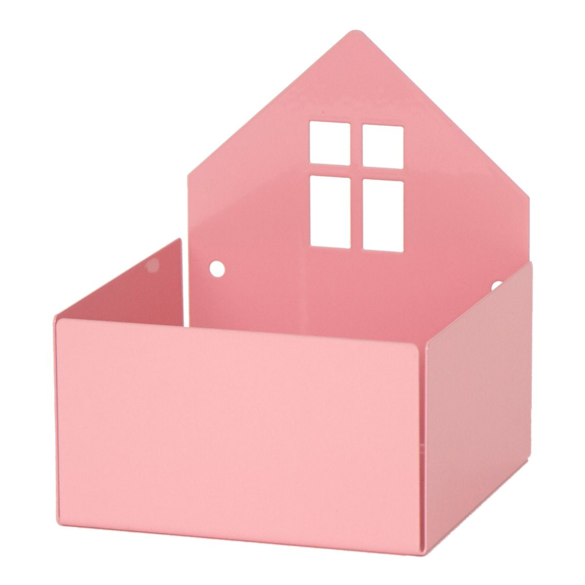 Wandregal & Box 'Haus' rosa
