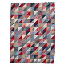 Krabbeldecke Quilt 'Blue Triangles' 110x150 von Room Seven