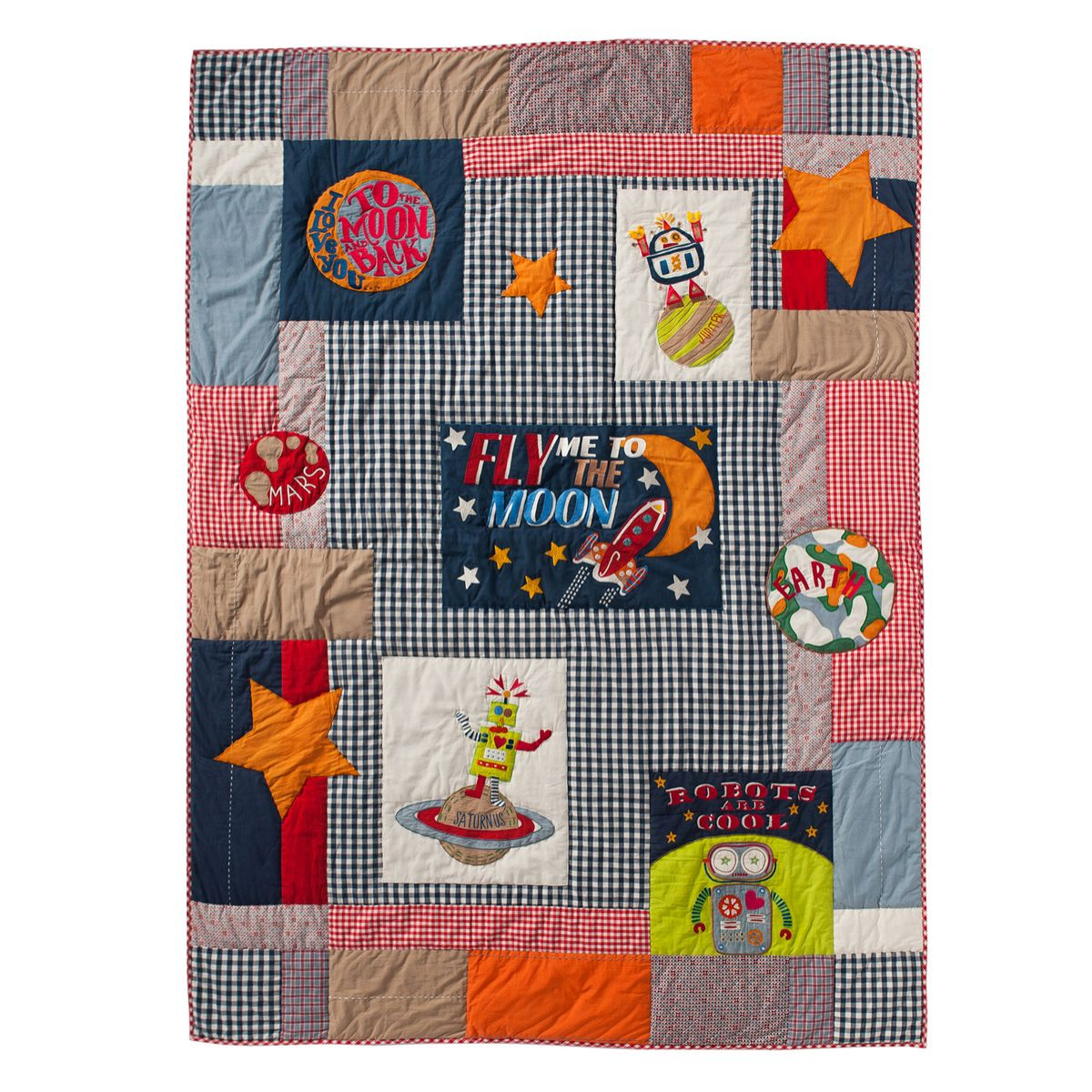 Tagesdecke Quilt \'Fly me to the Moon\' 160x220 von Room Seven kaufen