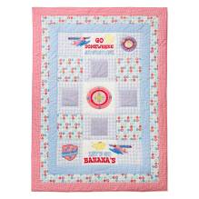 Tagesdecke Quilt 'Go Somewhere' in hellblau-rot 150x220cm von Room Seven