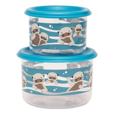 Snackdosen Good Lunch 'Baby Otter' 2er-Set von sugar booger