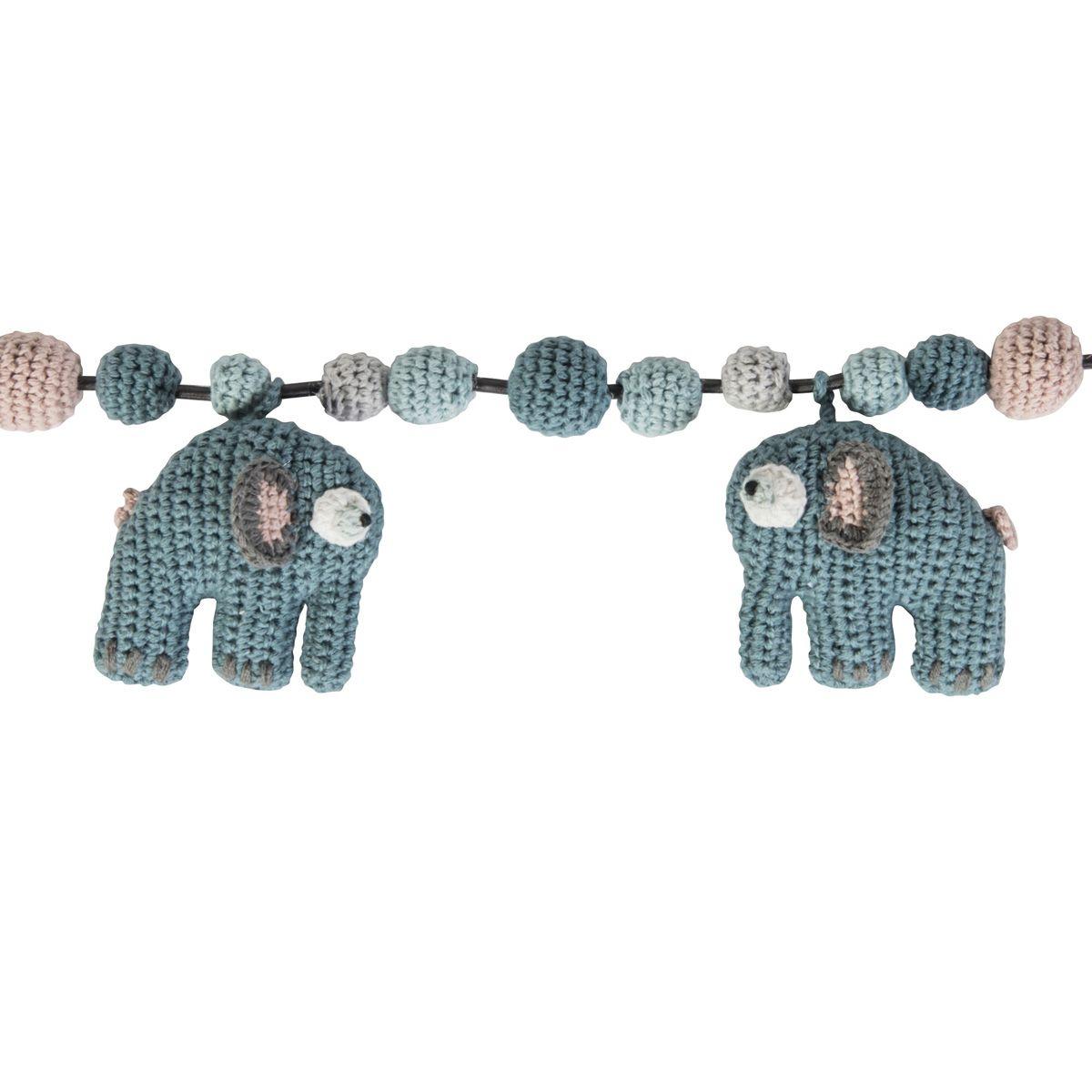 h kel kinderwagenkette elefant pastell blau von sebra kaufen. Black Bedroom Furniture Sets. Home Design Ideas