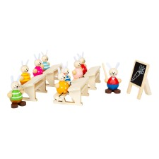 Holz Spielset 'Hasenschule' von small foot