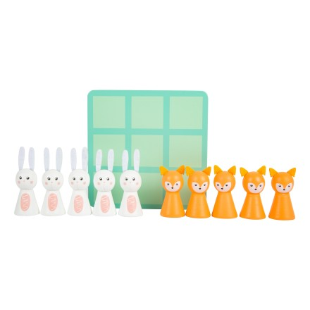 Tic Tac Toe 'Fuchs & Hase' pastell