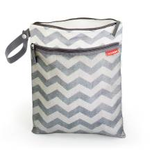 Beutel Wet Bag Grab and Go Chevron von SKIP * HOP