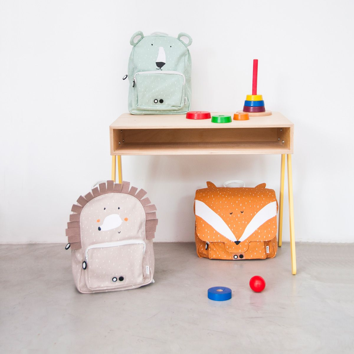 Kinder Rucksack 'Mr. Polar Bear' Eisbär mint