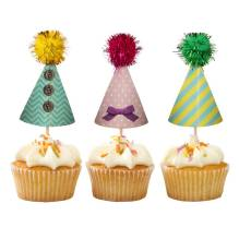 Cupcake-Toppers 'Pompom' von talking tables