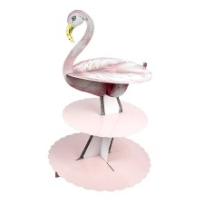 Dreistöckige Etagere 'Truly Flamingo' von talking tables