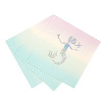 Meerjungfrau-Party 'We Heart Mermaids' Servietten von talking tables