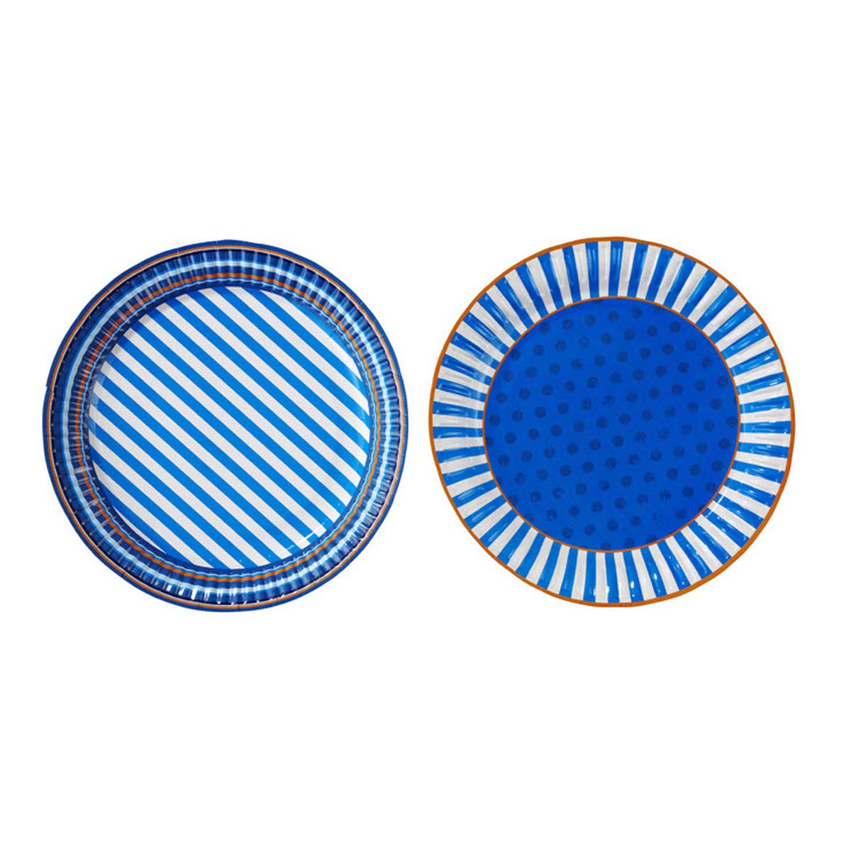 Set 8 pappteller blue party blau von talking tables kaufen Pappteller blau