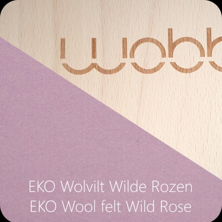 Wobbel Original transparent lackiert - Filz Wild Rose